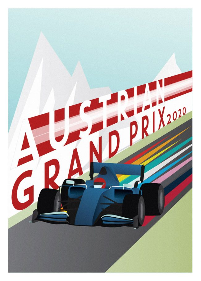 Poster for the Austrian Grand Prix 2020 Formula 1 Poster 2020