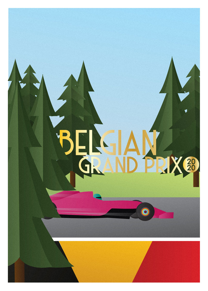 Poster for the Belgian Grand Prix 2020